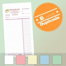 6 Livros de Faturas Simplificadas 1/12 Duplicado (50x2)
