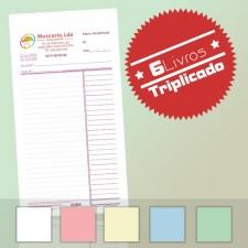 6 Livros de Faturas Simplificadas 1/12 Triplicado (50x3)