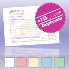 10 Livros de Faturas Simplificadas A5 Duplicado (50x2)