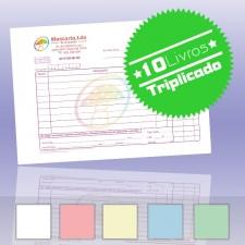 10 Livros de Faturas Simplificadas A5 Triplicado (50x3)
