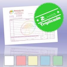 2 Livros de Faturas Simplificadas A5 Triplicado (50x3)