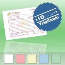 10 Livros de Faturas Simplificadas A6 Triplicado (50x3)