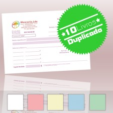 10 Livros de Recibos A5 Duplicado (50x2)