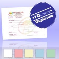 10 Livros de Recibos A6 Duplicado (50x2)