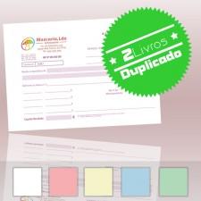 2 Livros de Recibos A5 Duplicado (50x2)