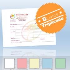 6 Livros de Recibos A6 Triplicado (50x3)