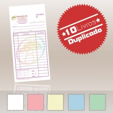 10 Livros Faturas 1/12 Duplicado (100x2)