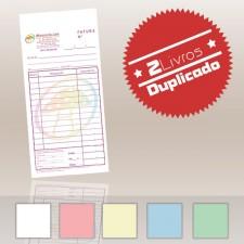 2 Livros Faturas 1/12 Duplicado (50x2)
