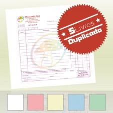 5 Livros Faturas 1/6 Duplicado (100x2)