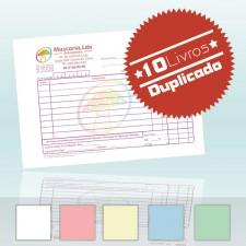 10 Livros Faturas A6 Duplicado 100x2