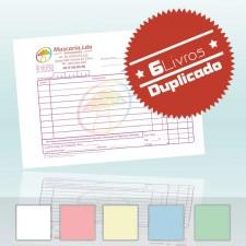 6 Livros Faturas A6 Duplicado 100x2