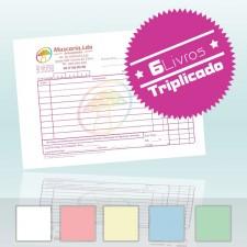 6 Livros Faturas A6 Triplicado 50x3