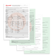5 Livros de contrato de mediação imobiliária - 50 x 4