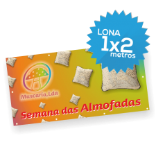 Lona Normal 1000x2000 mm C/ Ilhóses - Impressão Digital