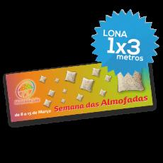 Lona Normal 1000x3000 mm C/ Ilhóses - Impressão Digital