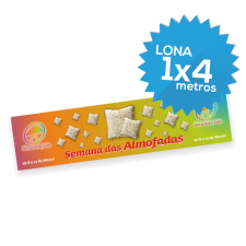 Lona Normal 1000x4000 mm C/ Ilhóses - Impressão Digital