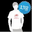 T-shirts personalizadas a 1 cor